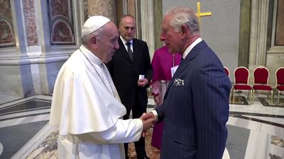 The Prince of Wales meets the Pope