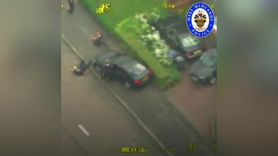 Shocking footage shows police officer run down by car thief