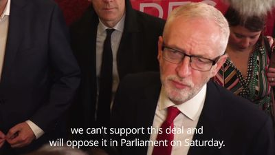 Jeremy Corbyn: Labour will not support new Brexit deal