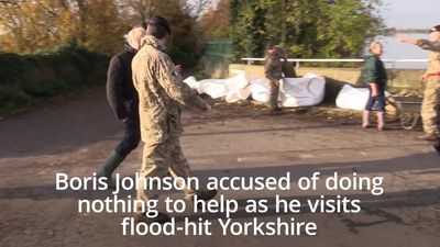 Boris Johnson accused of doing nothing to help as he visits flood-hit Yorkshire