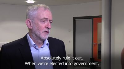 Jeremy Corbyn rules out Scotland independence referendum