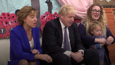 Boris Johnson sings The Wheels On The Bus during school visit