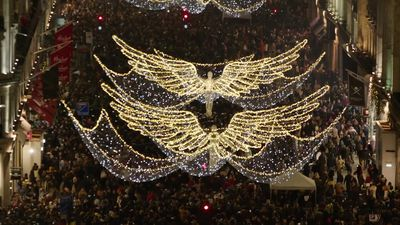 Regent Street's Christmas lights switched on