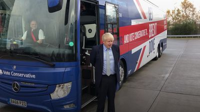 Boris Johnson promises 'greener' vehicles than the Tory election battlebus