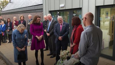 Kate officially opens children's hospice with 'army of little helpers'