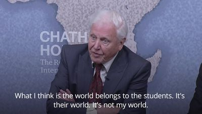 Sir David Attenborough: The world belongs to the students and not to me