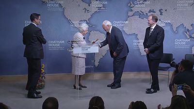 Queen makes joke as she presents prize to Sir David Attenborough