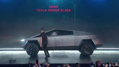 Bizarre debut for Tesla's new Cybertruck