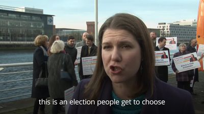 Jo Swinson reminds voters there is an alternative to Boris Johnson and Jeremy Corbyn