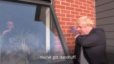 Boris Johnson told 'you've got dandruff' by army veteran