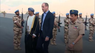 Prince William lands in Oman