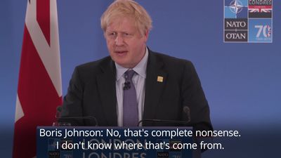 Boris Johnson responds to video of Nato leaders 'mocking Donald Trump'