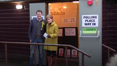 Nicola Sturgeon casts her vote in Glasgow