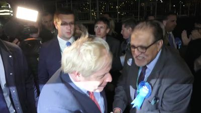 General Election: Boris Johnson cheered into his constituency count