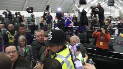 Fight breaks out at Uxbridge count as John McDonnell speaks