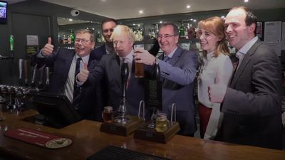 PM Johnson celebrates election victory in north east