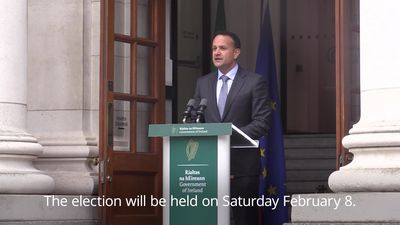 Leo Varadkar announces February election in Ireland