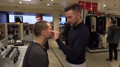 John Lewis unveils make-up counter for men