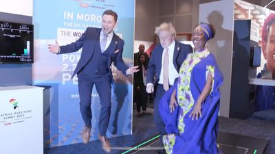 Boris Johnson bounces around at UK-Africa summit