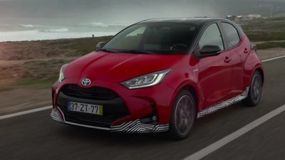 This is a prototype of the new Toyota Yaris