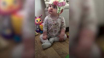 Mum's 'bubble of pure joy' burst after baby girl diagnosed with Rett syndrome