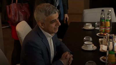 Sadiq Khan visits European Parliament in Brussels