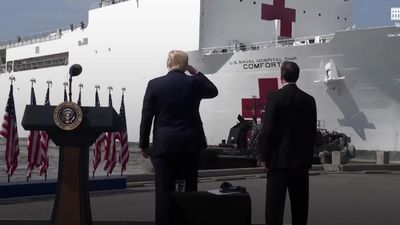 Trump sends off naval hospital ship USNS Comfort
