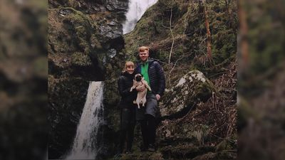 Off-grid couple who travel UK with dog