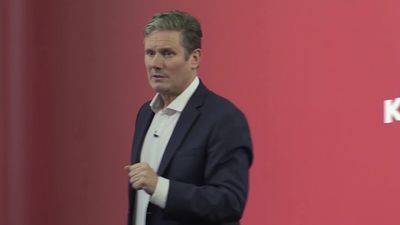 New Labour leader Sir Keir Starmer in profile