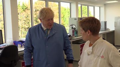 Boris Johnson tweets he's 'in good spirits' after being admitted to hospital with Covid-19 symptoms