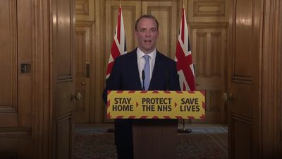 Dominic Raab gives update on PM's condition