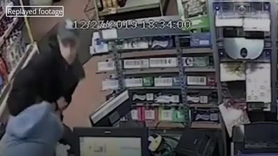 Shopkeeper commended for bravery while tackling robber