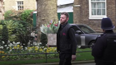 Flowers delivered to 10 Downing Street