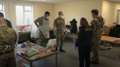 Soldiers prepare to join ambulance staff on frontline of pandemic response