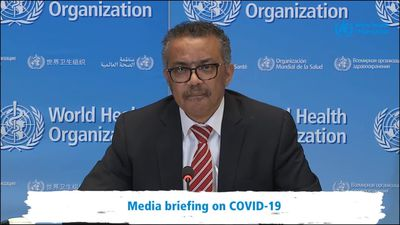WHO chief in passionate response to criticism over coronavirus crisis