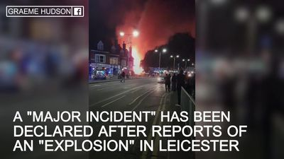 'Major incident' declared after 'explosion' in Leicester