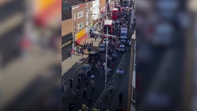 Protesters gather in Peckham after George Floyd killing in US