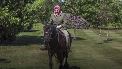 Queen pictured for first time since lockdown - out riding at 94
