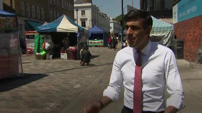 Rishi Sunak: Shopping at markets 'absolutely safe'