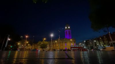 Lambeth town hall lit purple to mark death of George Floyd