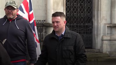 Tommy Robinson held by police investigating 'assault'
