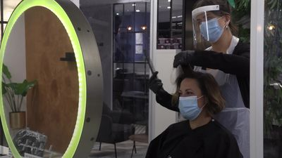 Hair salon prepares for opening with new Covid-19 safety measures