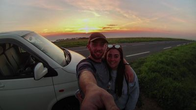 UK couple ditch jobs to live on the open road