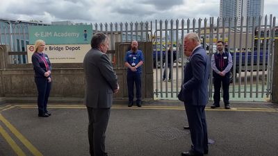 Charles meets Tube workers who kept Underground running during height of pandemic