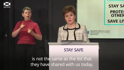Nicola Sturgeon: UK policy on air bridges has been shambolic