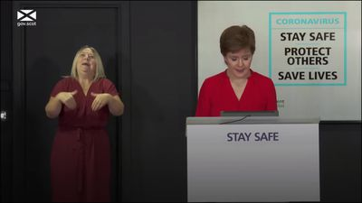 Nicola Sturgeon tells people in Scotland to follow the rules as beer gardens open
