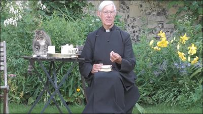 Cat snatches vicar's milk during morning prayer