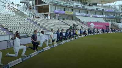 England and West Indies take a knee ahead of first Test