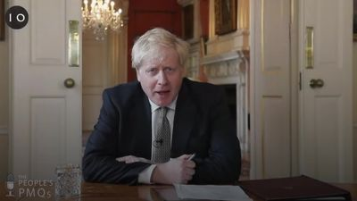 Boris Johnson discusses face coverings and urges Britons back to work