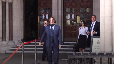 Johnny Depp arrives at High Court in London